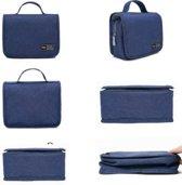 CoshX® Toilettas hang blauw jeans - Hangende toilet tas heren dames - hanging toiletbag