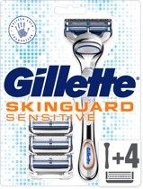Gillette Skinguard Scheerhouder + Scheermesjes 4 Stuks