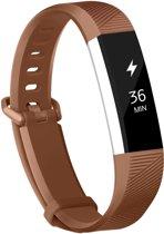 YONO Siliconen bandje - Fitbit Alta (HR) - Bruin - Large