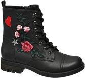 Cupcake Couture Kinderen Zwarte boot bloemen - Maat 30