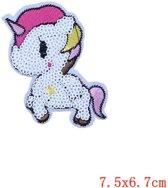 Strijk embleem Patch Unicorn Clover