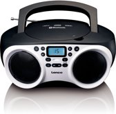 Lenco SCD-501 - Radio CD-speler met Bluetooth, USB en MP3 - Wit