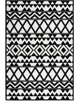 Kayoom - Vloerkleed - Esperanto 725 -Zwart/Wit - 160x230cm