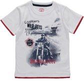 Losan jongenskleding - Wit t-shirt met motor -415-1039 - Maat 92