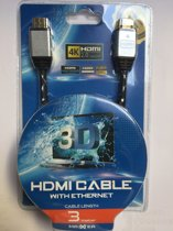 Premium hdmi kabel verguld 3D High speed Full HD 4K 3 meter