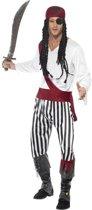 Zwart/wit piraten kostuum / verkleedkleding voor heren 48-50 (M)