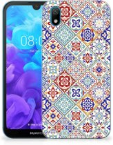 TPU Siliconen Hoesje Huawei Y5 (2019) Tiles Color