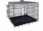 Nobby Opvouwbare Hondenbench - Zwart - 93 x 62 x 69 cm