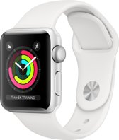 Apple Watch Series 3 - Smartwatch - Zilver/Wit Sportbandje - 38mm
