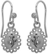 Blossom Copenhagen - Zilveren oorhangers Gerodineerd - Druppelvormige hanger bloem