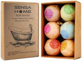 6 x 100% Natuurlijke Bad Bruisballen, Unieke Mix van Etherische Oliën | Aroma Badbommen | Handmade Bath Bombs