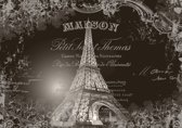 Paris Eiffel Tower Vintage Effect Photo Wallcovering