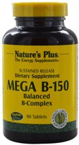 Mega B-150, Balanced B-Complex (90 Tablets) - Nature's Plus