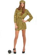 Gele gevangenisplunje voor vrouwen - Volwassenen kostuums