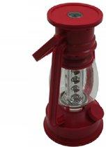 Lantaarn met ledlampen in plaats van olie.  Met Kompas en dimbaar.  (Inclusief 3 GRATIS AA batterijen) in lichte PVC uitvoering - DD-1660