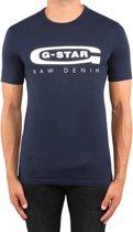 G-star T-Shirt Navy Met Wit Logo (D15104 - 336 - 6067) - XXL