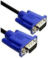 Dolphix VGA monitor kabel - zwart met blauw  - 3 meter