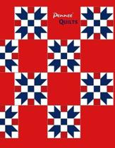 Pennee' QUILTS: Quilting Workbook: Notebook Journal, 8.5 x 11, 120 Pages - 18