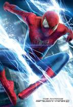 Spider-Man Jump - Fotobehang - 232 cm x 158 cm - Blauw
