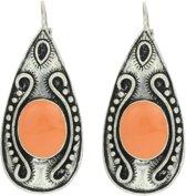 Vintage oorhangers oranje