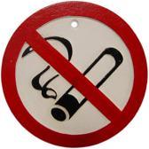 Gietijzeren - wandbord - no - smoking verboden te roken - niet roken - gietijzer