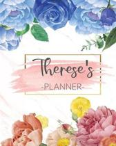Therese's Planner: Monthly Planner 3 Years January - December 2020-2022 - Monthly View - Calendar Views Floral Cover - Sunday start