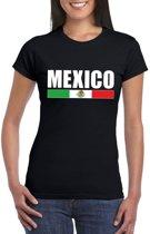 Zwart Mexico supporter t-shirt voor dames S