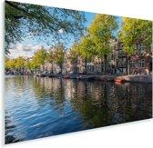 De Prinsengracht in het centrum van Amsterdam Plexiglas 30x20 cm - klein - Foto print op Glas (Plexiglas wanddecoratie)