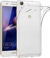 Huawei Y6 - || Transparant Siliconen Ultra Thin hoesje - van Bixb