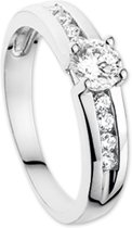 The Jewelry Collection Ring Zirkonia - Witgoud