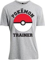 Pok�mon - Pok�mon Trainer heren unisex T-shirt grijs - XL - Televisie anime merchandise