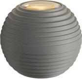 Lucide AYO - Wandlamp Buiten - Ø 9 cm - LED - 2x3W 2700K - IP54 - Grijs