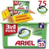 Ariel 3in1 Pods Original - Voordeelverpakking 3 x 25 Wasbeurten - Wasmiddelcapsules