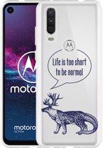 Motorola One Action Hoesje Life is too Short