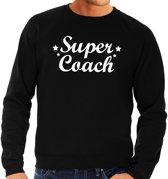 Super coach cadeau sweater zwart heren -  kado trui/sweater - bedankje L
