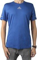 adidas Sequencials Climalite Run Tee AI7489, Mannen, Blauw, T-shirt maat: S EU