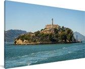 Het Amerikaanse eiland Alcatraz bij de baai San Francisco Canvas 120x80 cm - Foto print op Canvas schilderij (Wanddecoratie woonkamer / slaapkamer)