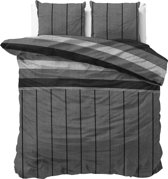 Sleeptime Katoen Kees - Dekbedovertrekset - Lits-Jumeaux - 240x200/220 + 2 kussenslopen 60x70 - Grijs