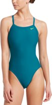 Nike Swim Racer Back One Piece Dames Badpak - Green Abyss - Maat 38