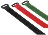 Hama Hook & Loop Cable Ties with buckle kabelbinder Nylon Multi kleuren
