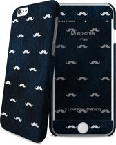 i-Paint cover Mustaches - blauw - voor iPhone 6/6S