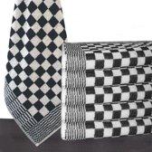 Homéé - Keukendoek zwart / wit 100% katoenen badstof | set van 6 stuks | 50x50cm