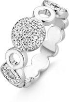 TI SENTO Milano Ring 12068ZI - maat 17,25 mm (54) - Zilver witgoudverguld