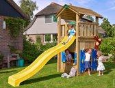 Jungle Gym - Cottage Playhouse 145 - Speelhuis voor Buiten - Met Glijbaan - Geel