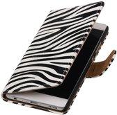 Zebra booktype wallet cover hoesje voor Huawei P9 Plus