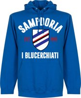 Sampdoria Established Hooded Sweater - Blauw - S