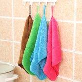 5 STÃCK bamboe Fiber wassen schotel handdoek keuken schoonmakende doek dubbelzijdige wassen doek Water absorptie niet-Stick olie  hangen kan  willekeurige kleur levering