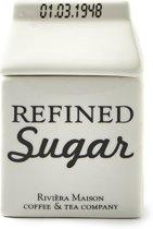 Rivièra Maison Carton Jar Sugar - Suikerpot - Wit