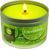 Citrobella® Grote citronella kaars in blik met vensterdeksel en katoenlont 320 g