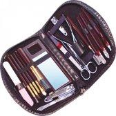 Manicure set in etui - 18 Delig - nagelverzorgingsset